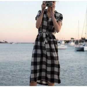 New UO Urban Outfitters Natalie Linen plaid  S